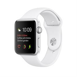 APPLE WATCH (SERIES 2) 42MM SILVER ALUMINUM CASE WITH WHITE SPORT BAND