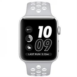 APPLE WATCH (SERIES 2) NIKE+ 42MM SILVER ALUMINUM CASE WITH SILVER/WHITE SPORT