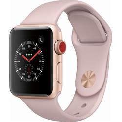 SERIES 3 (GPS + CELLULAR) 38MM GOLD ALUMINUM CASE WITH PINK SAND SPORT BAND