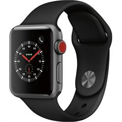 SERIES 3 (GPS + CELLULAR) 38MM SPACE GRAY ALUMINUM CASE WITH BLACK SPORT BAND