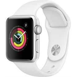 SERIES 3 GPS 38MM SILVER ALUMINUM CASE WHITE BAND