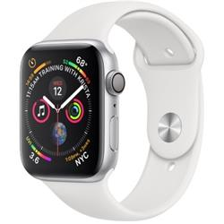 SERIES 4 (GPS + CELLULAR) 44MM SILVER ALUMINUM CASE WITH WHITE SPORT BAND