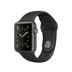 APPLE WATCH (SERIES 1) 38MM SPACE GRAY ALUMINUM CASE WITH BLACK SPORT BAND