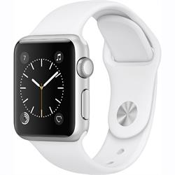 APPLE WATCH (SERIES 1) 42MM SILVER ALUMINUM CASE WITH WHITE SPORT BAND