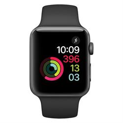 SERIES 2 42MM SPACE GRAY ALUMINUM CASE BLACK SPORT BAND